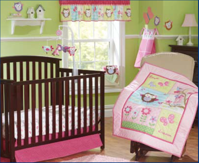 Us 88 0 Promotion 7pcs Embroidered Owl Crib Bedding Set Baby Per Bed Sheet Cot Include 4per Duvet Cover Skirt In