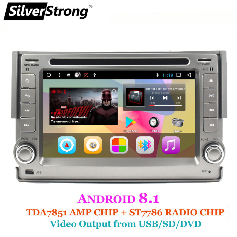 SilverStrong Android8 1 Car 2Din Radio DVD For Hyundai H1 STAREX Android 2GB ram Navitel Android