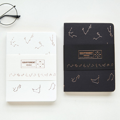 Hot Black White Notebook Blank Sketchbook Journal Freenote Diary Study Notebook Stationery Gift Planner Constellation NotepadHot Black White Notebook Blank Sketchbook Journal Freenote Diary Study Notebook Stationery Gift Planner Constellation Notepad