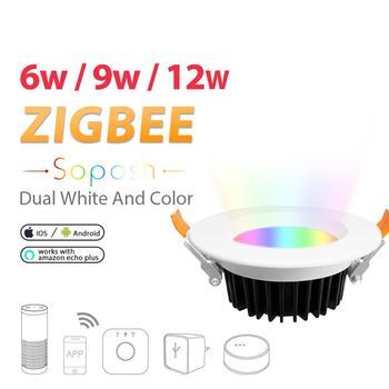 زيجبي RGB CCT النازل بروتوكول ZLL متوافق مع صدى زائد الجهد 100 فولت 240 فولت 6 واط