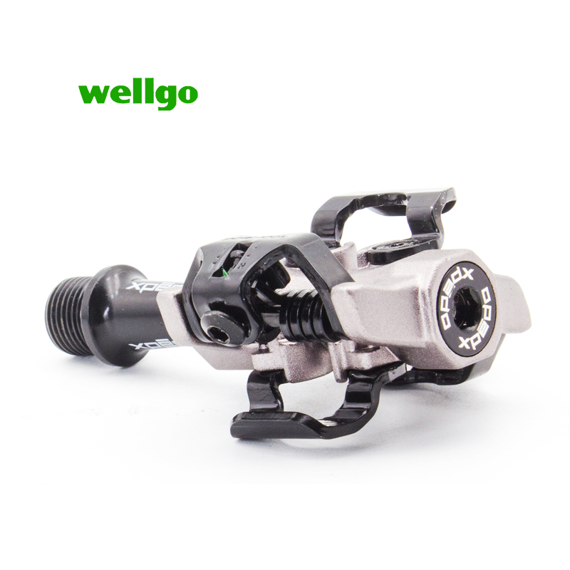 Wellgo Xpedo XMF10AC mtb Bicycle high quality pedals fully enclosed 3 bearing professional racing MTB Lock pedal ultralight 9 16 in Bicycle Pedal from Sports Entertainment