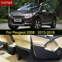 Car Pads Front Rear Door Seat Anti Kick Mat Car Styling Accessories For Peugeot 2008 2013