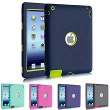 Newest Silicon PC TPU Robert Back Case for Apple iPad 4 3 2 9.7 inch High Quality Protective Smart Cover for iPad2 iPad3 iPad4 стоимость