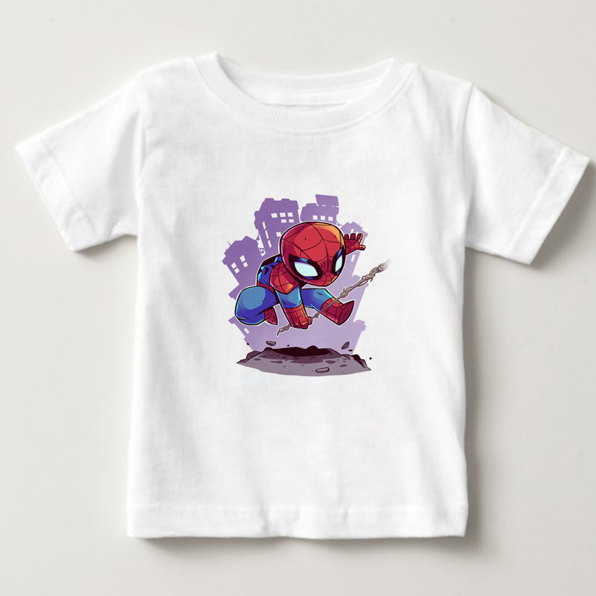Funny 3D Printing Cartoon t-shirt The Super Hero Squad Show T-Shirt boy/girl/ Kids T shirt summer short sleeve t shirt tee NN