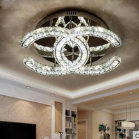 Warm Romantic Bedroom Lamp Creative Personality Crystal Lamp Simple Modern Small Living Room Led Ceiling Lamp