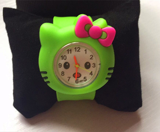 10 CANDY Colors Pink Rose Color Hello Kitty Slap Watch