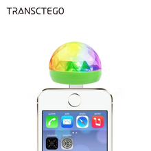 Disco Light Mini USB Crystal Magic Ball Party Portable Colorful Night Lights Gift For Children Phone DC 5V Led Stage Lamp