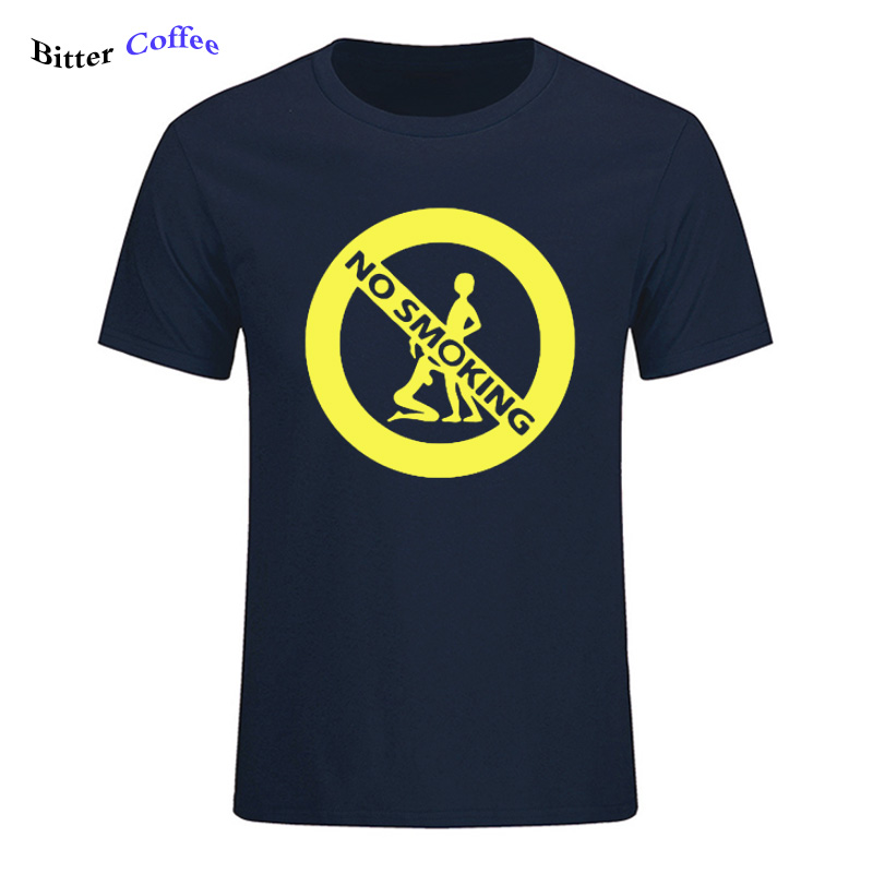 BITTER COFFEE NEW Girl And Boy No Smoking Sex Printed TShirt For Men  Short Sleeve Casual Cotton O-Neck Humor Joke Funny T-shirt