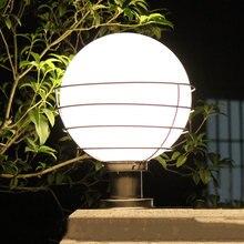 Купить с кэшбэком Outdoor lighting ball column light outdoor pillar outdoor garden lamp post white transparent acryl ball E27 Bulb WCS-OCL0020