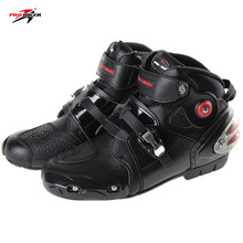 High quality FREE SHIP 2017New arrival Pro-biker boots motorcycle racing boots men motocross riding boots size 40-47 black A9003