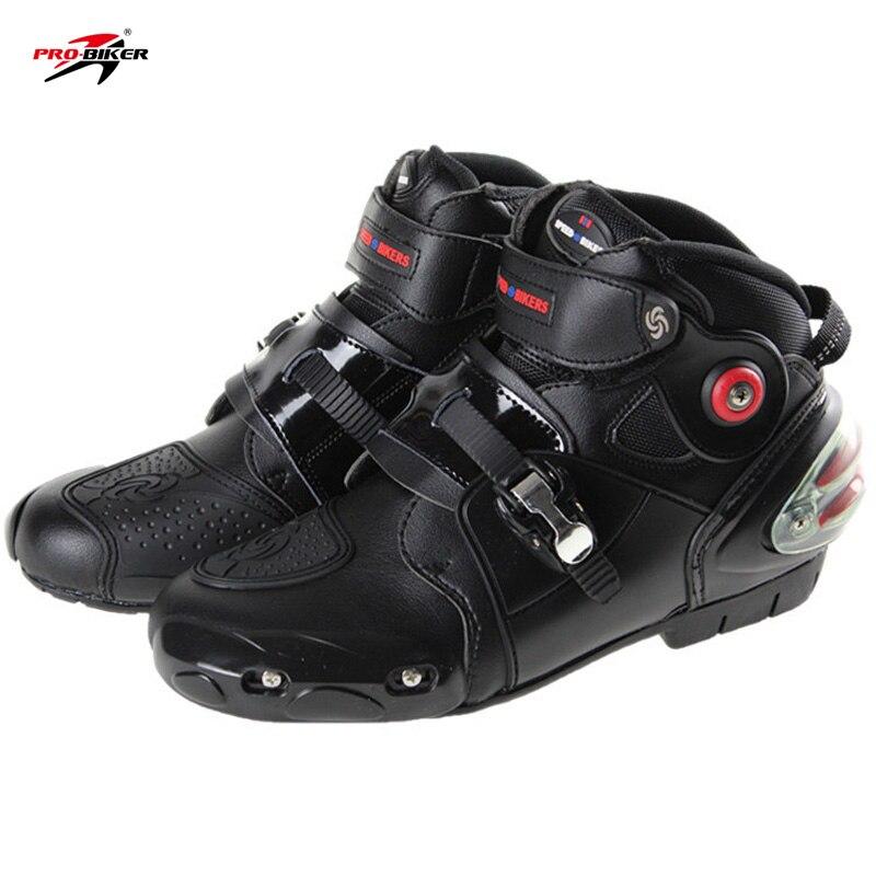 Dotări de calitate superioară GRATUITĂ 2017Noua sosire Pro-biker cizme motociclete cizme de curse motocross bărbați motocross cizme de mărime 40-47 negru A9003