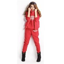 New Solid  Coat+Pant+Vest three items Hoodies Sports Sweatshirt Winter Warm Tracksuit Plus Size M–XL Women's Sets