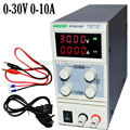 Cuatro dígitos display LED Digital DC fuente de Alimentación Ajustable, 0 ~ 30 V 0 ~ 10A, 110 V-220 V, fuente de Alimentación conmutada 0.1 V/0.001A pantalla mA