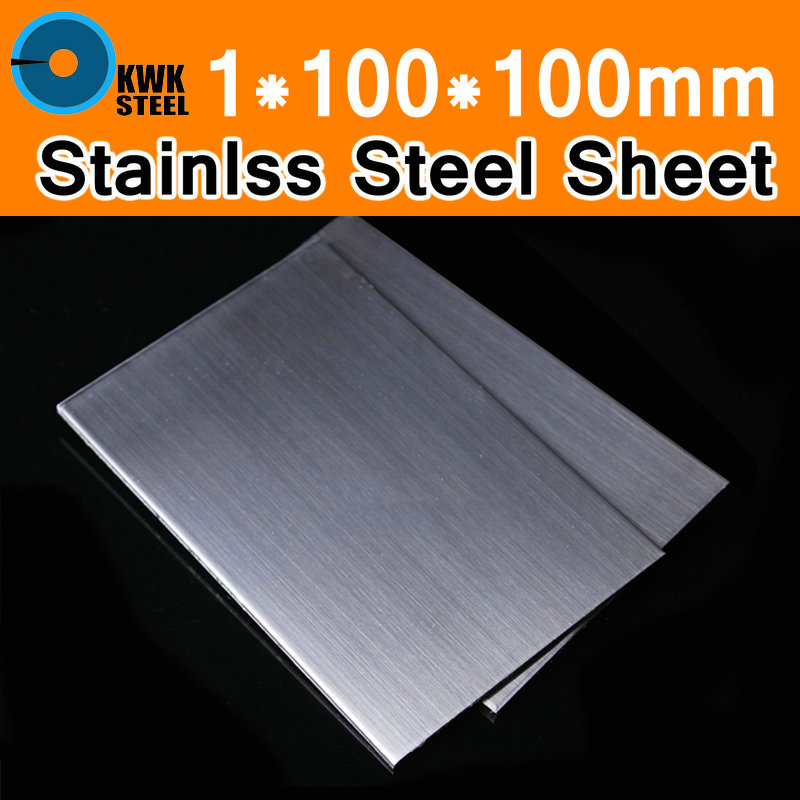 TP304 AISI304 304 Stainless Steel Sheet 1x100x100mm Brushed Stainless Steel Plate Board Hand DIY Material Frame Model Metal Art