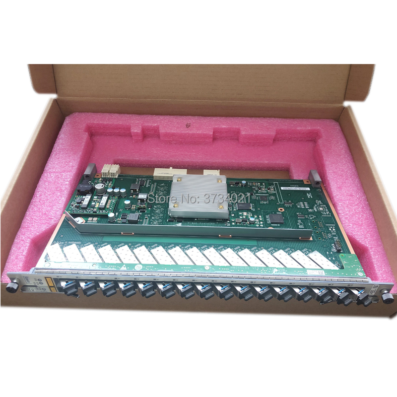 Wholesale Price Original Hua Wei MA5680T MA5683T OLT 16 ports GPON GPFD service board with 16 SFP modules B+ for Huawei OLT