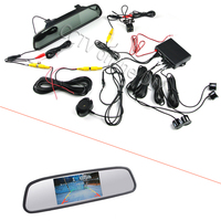 3 In 1 4 3 Inch Car Mirror Monitor HD CCD Rear View Camera Dual Core