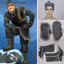 Disfraces de halloween 2017 para hombres anna y elsa snow grow adult kristoff accesorios de disfraz (cubiertas de zapatos + sombrero + guantes)