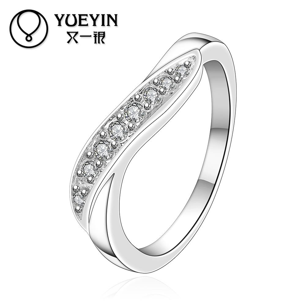 Wholesale Silver Plated Wedding Rings For Women Twisted