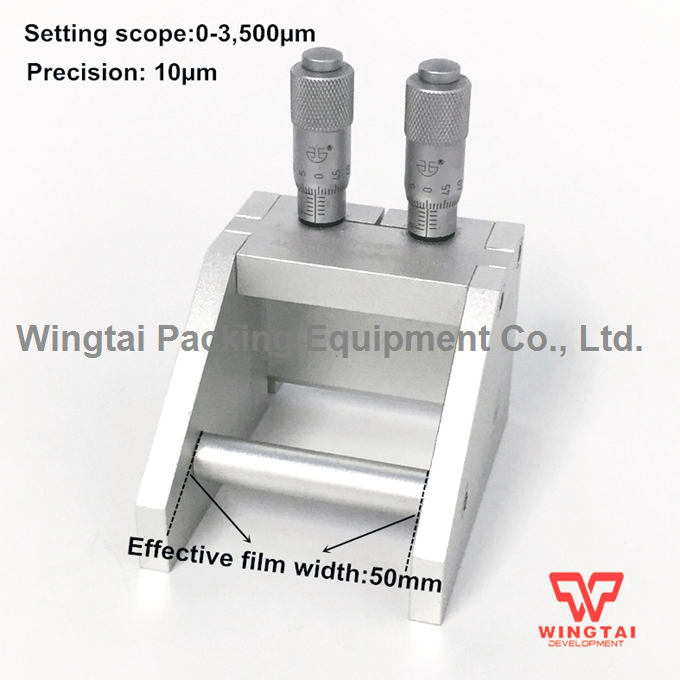 W50mm Aluminium alloy 0-3500um Coating Width Adjustable Wet Film Applicator BGD209/1 bgd202 1 stainless steel double side wet film applicator have other spec for your choice
