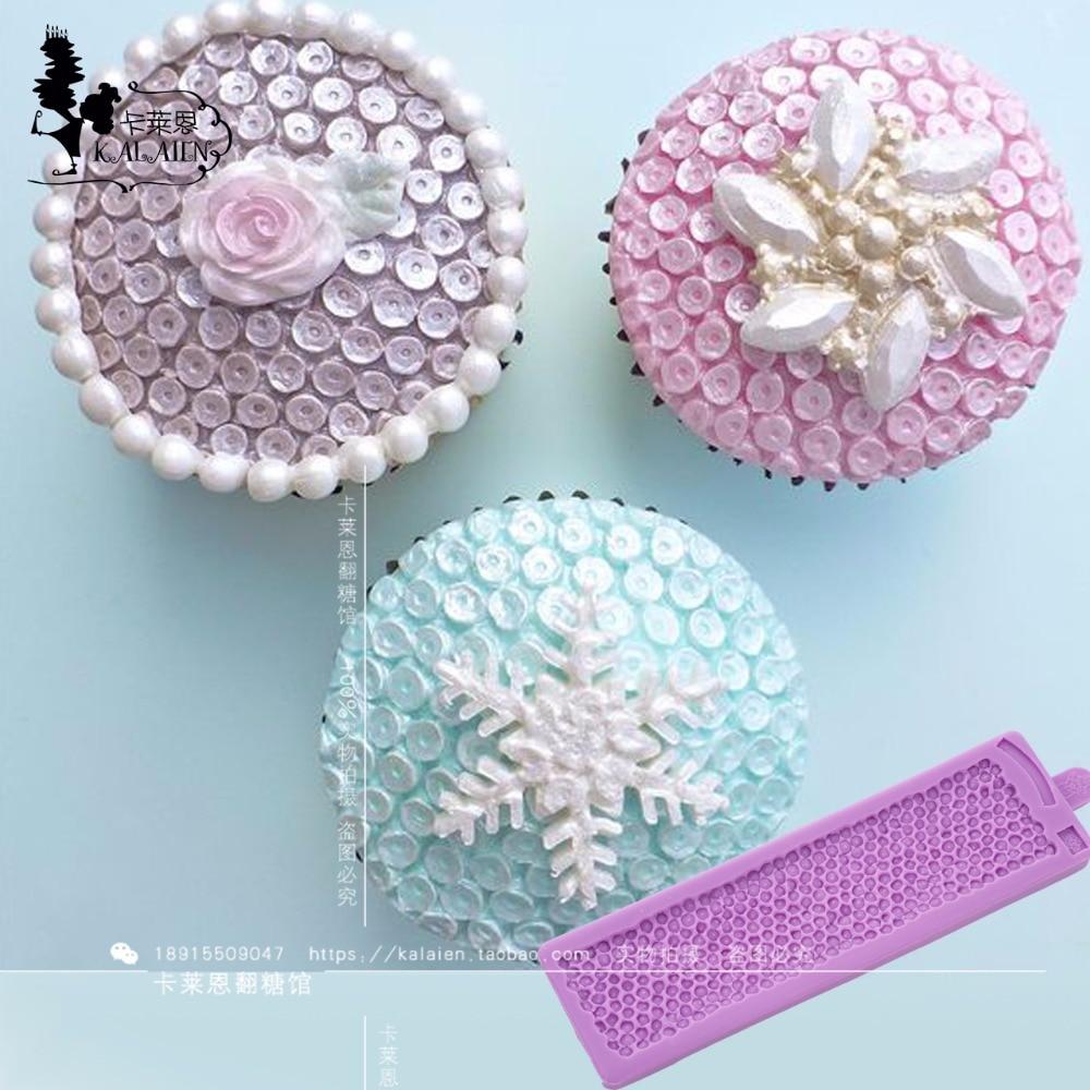 Yueyue Sugarcraft paillettes fondente silicone weddding torta stampo fondente muffa della torta strumenti di decorazione di cioccolato muffa gumpaste