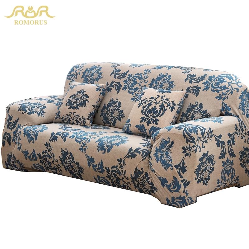 ROMORUS European Style Elastic Chair Sofa Cover Comfortable All Inclusive  Flexible Slipcover Couch Cover Home Decor Sofa Covers