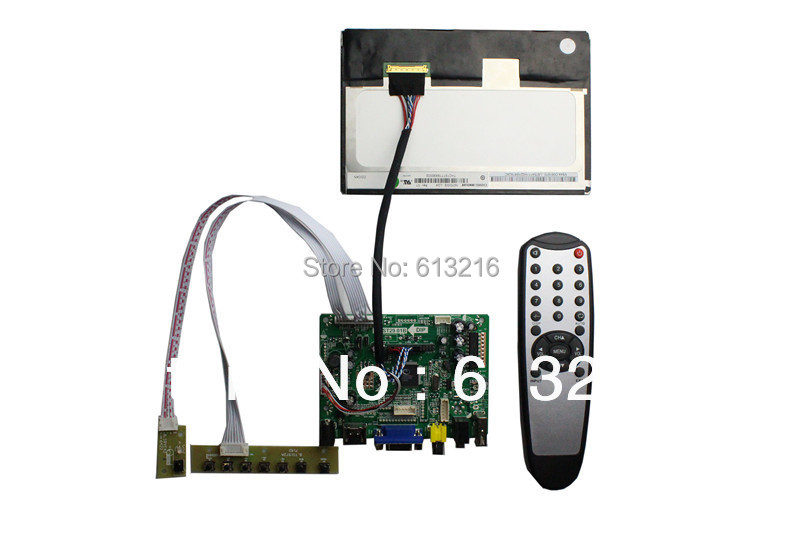 HDMI+VGA +AV +Audio  LCD controller  board +IPS 7inch LCD panel N070ICG-LD1 1280*800 +LVDS cable +Remote control +OSD keypad free shipping hd 10 ips touch screen 1280 800 vga hdmi av lcd monitor for pos kiosk pc gaming