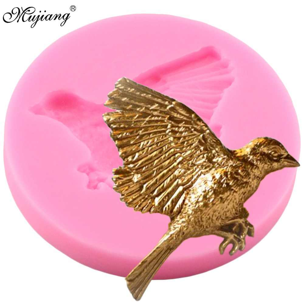 Mujiang 3D Birds Silicone Mold Cupcake Baking Fondant Molds DIY Cake Decorating Tools Candy Resin Clay Chocolate Gumpaste Moulds