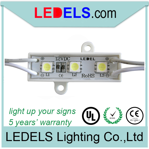48*15mm mini 5050 smd 3 led led sign lights waterproof for signage epistar led module smd 3 leds 5050