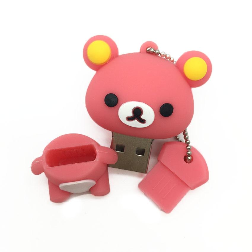 2019 New Usb Flash Drive Cute Cartoon Bear Pen Drive 4gb 8gb 16gb 32gb 64gb 128gb Pendrive High Quality Usb Stick Free Shipping (8)