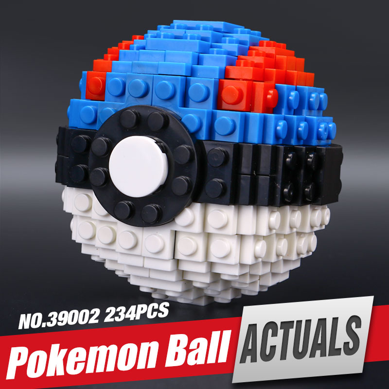 Lepin 39002 New 234Pcs Pokemen ball Series The Pikachu Set Building Blocks Bricks Minifigures Small pieces