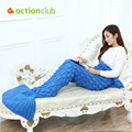 Actionclub Mermaid Blanket For Adult 10Colors Mermaid Tail Blanket For Sofa Sleeping Soft Thicken Comfortable Blanket Throws