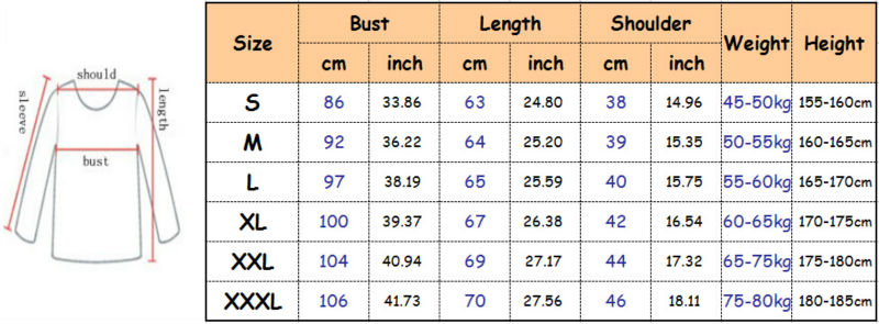 3d t shirts 3xxl size chart