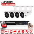 HCVAHDN SONY 4MP CCTV комплект видеонаблюдения 5mp камера безопасности Система 4ch DVR NVR 5MP видео выход 40m камера ночного видения P2P вид