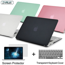ZVRUA Laptop Case For Apple MacBook Air Pro Retina 11 12 13 15 for mac book New Pro 13 15 inch with Touch Bar+ Keyboard Cover(China)