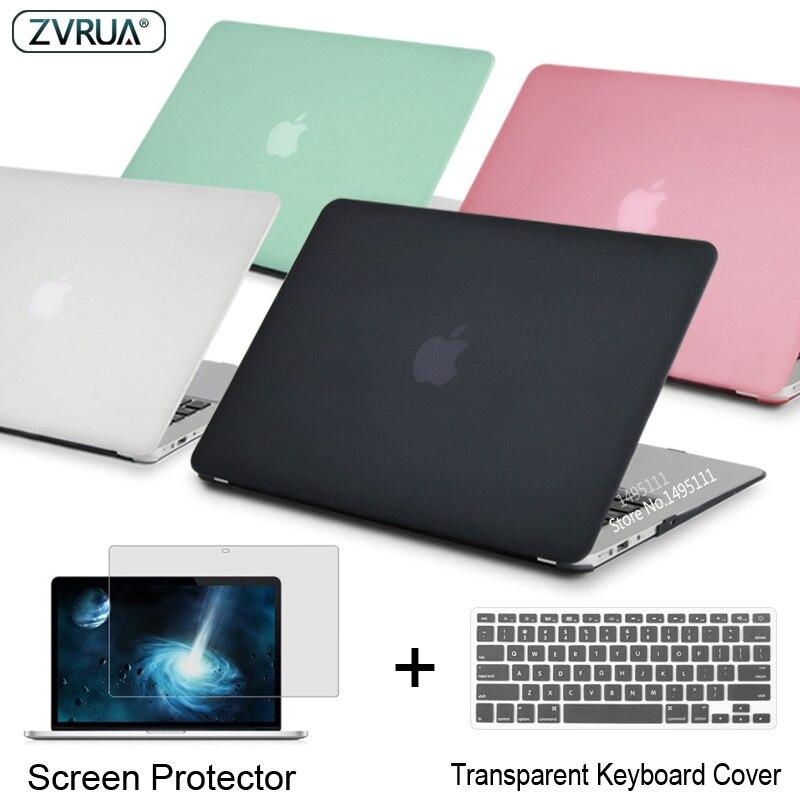 ZVRUA Laptop Fall Für Apple MacBook Air Pro Retina 11 12 13 15 für mac buch Neue Pro 13,3 15 zoll mit Touch Bar + Tastatur Abdeckung
