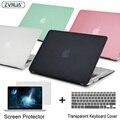 ZVRUA Laptop Case Para Apple MacBook Air Pro Retina 11 12 13 15 para mac book Novo Pro 13.3 15 polegada com Barra de Toque + Tampa Do Teclado
