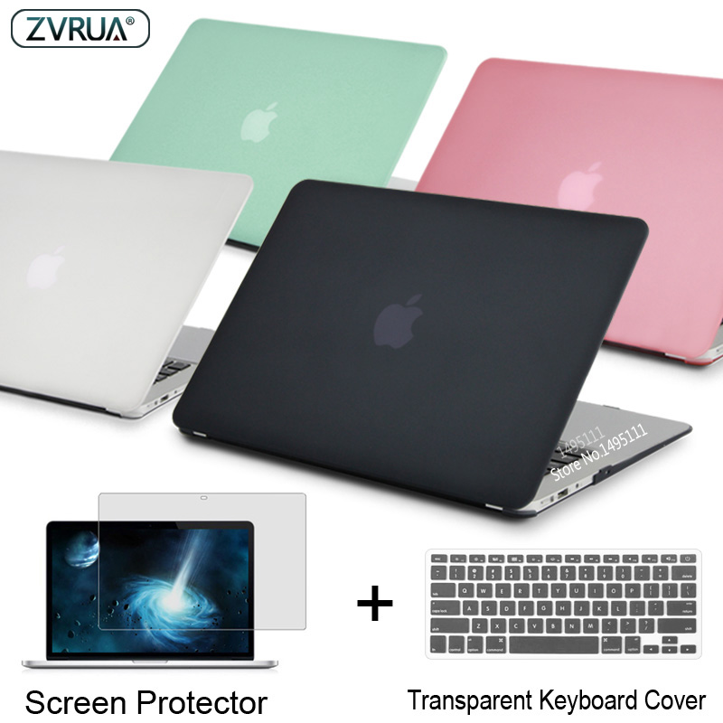 ZVRUA portátil caso para Apple MacBook Air Pro Retina, 11 12 13 15 para mac libro nuevo Pro 13,3 15 pulgadas con Touch Bar + teclado