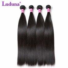 Luduna Brazilian Virgin Hair Straight Human Hair Weave Brazilian Hair Weave Bundles Natual Color Can Buy