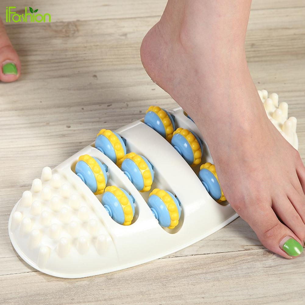 Roller Wheel Massager Portable Oval Shape Foot Massager Care Pain Relief  Roller Feet Acupoint Relaxation With 4 Rows Whe