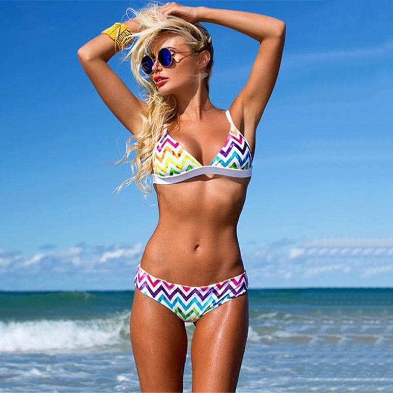 YCDYZ New Rainbow <font><b>bikini</b></font> <font><b>2018</b></font> <font><b>sexy</b></font> swimwear women <font><b>bikinis</b></font> Brazilian women mini <font><b>micro</b></font> <font><b>bikini</b></font> set swimsuit girl stripy swim suit image