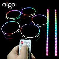 Aigo RGB fall fan sync mit licht streifen und motherboard veränderbar farbe kühler fan kühlung ändern licht modi dünne licht ring