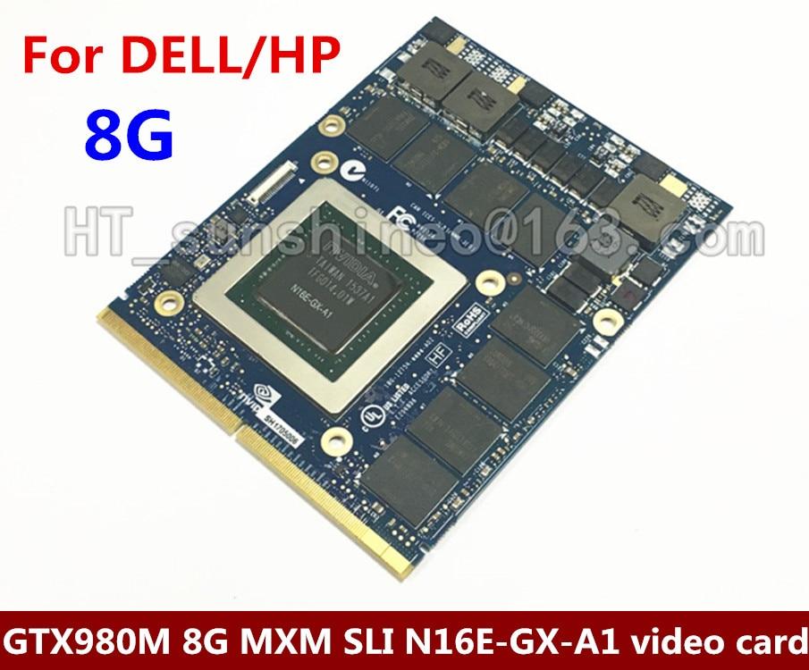 Haute Qualité Pour Dell Alienware 18 M18X R2 R3 R4 18 pouce Ordinateur Portable nVidia GeForce GTX 980 m Sli GPU 8 gb GDDR5 Carte Graphique Envoyer DHL