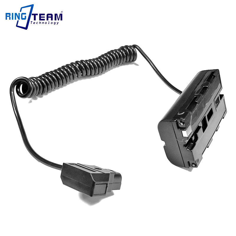 Image 4 - Coiled Cable Power P Tap D Tap to NP F550 F570 Dummy Battery Coupler for Monitors / Lights / LampsAC/DC Adapters   -