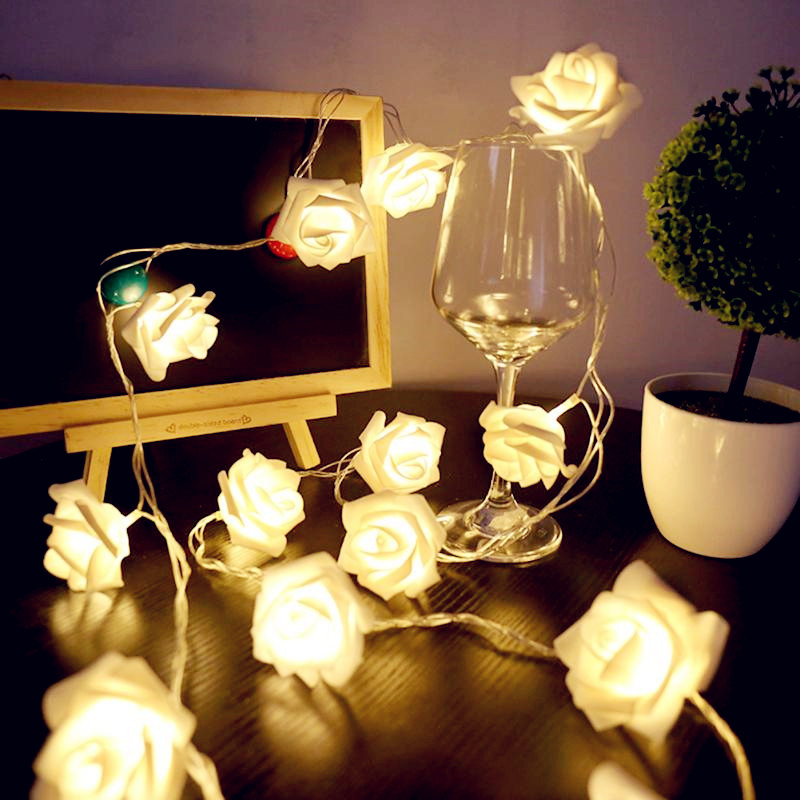 1M/2M/3M/4M/5M/10M Roses Flower Battery Operated Led Garland String Light Christmas Holiday Wedding Valentine Birthday Light
