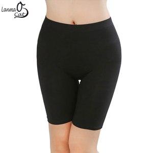Lanmaocat Hot Sale Women Leggings Knee-length For Fummer Under Skirts Made of Comfortable Lightweight Bamboo Fiber Free Shipping(China)