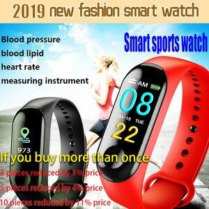 Image 5 - Cyfrowy zegarek mężczyźni lub kobiety inteligentny zegarek tętna krwi PressureSleep monitora krokomierz połączenia Bluetooth Smart band