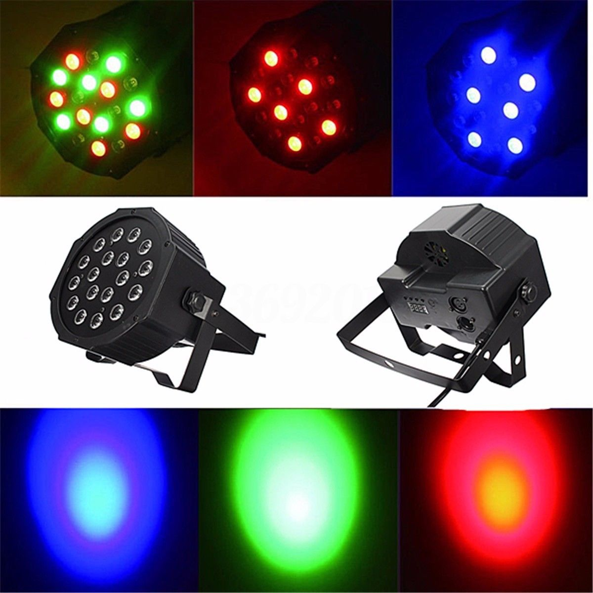 aimihuo dmx 512 strobe 18w led rgb stage par light dj lighting club xmas party colorful stage. Black Bedroom Furniture Sets. Home Design Ideas
