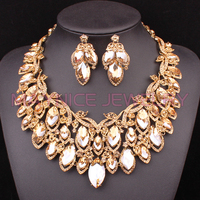 Vintage Hollow Bridal Jewelry Sets Nigerian Wedding Necklace Earring Set For Brides African Jewelry Set Gift For Women 2018