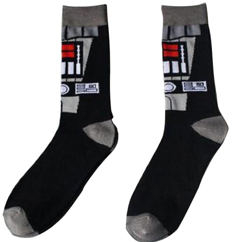 Men Socks Sale Time-limited Standard Cotton Casual 2018 Cartoon Star Wars Robot Mens Tube Socks