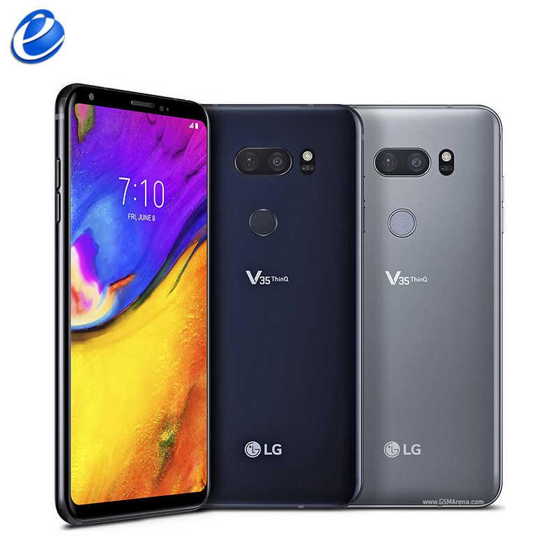 """Déverrouillage d'origine LG V35 ThinQ 6.0 """"pouces 6GB RAM 64GB 128GB ROM Android octa-core double caméra empreinte digitale NFC téléphone mobile intelligent"""